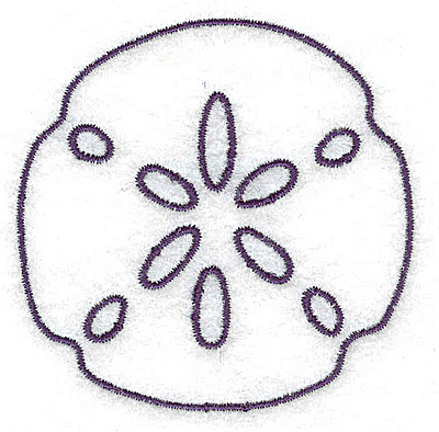 Embroidery Design: Sand Dollar outline small 2.66w X 2.64h