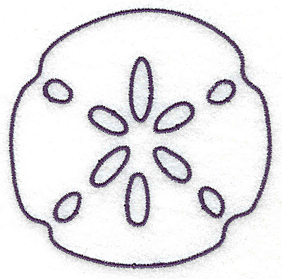 Embroidery Design: Sand Dollar outline large 3.46w X 3.43h