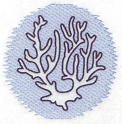 Embroidery Design: Coral Trapunto small 3.89w X 3.84h