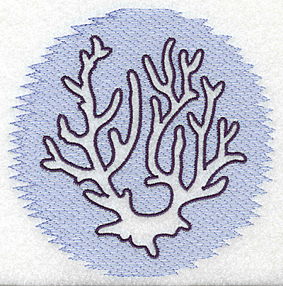 Embroidery Design: Coral Trapunto large 4.96w X 4.91h