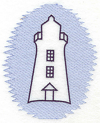 Embroidery Design: Lighthouse Trapunto large 4.19w X 4.98h