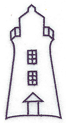 Embroidery Design: Lighthouse outline large  1.92w X 3.92h
