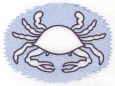 Embroidery Design: Crab Trapunto large 4.99w X 3.61h