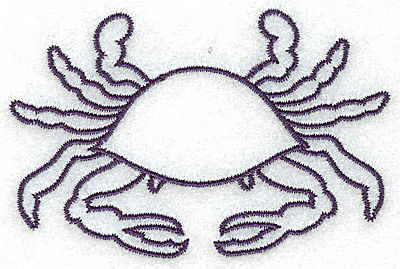 Embroidery Design: Crab outline small 3.37w X 2.21h
