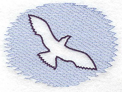 Embroidery Design: Seagull Trapunto small 3.88w X 2.81h