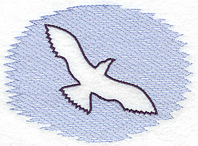 Embroidery Design: Seagull Trapunto large 4.97w X 3.59h