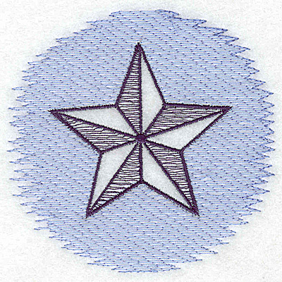 Embroidery Design: Star Trapunto small 3.88w X 3.74h