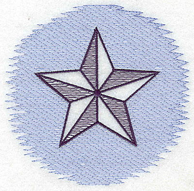 Embroidery Design: Star Trapunto large 4.96w X 4.78h