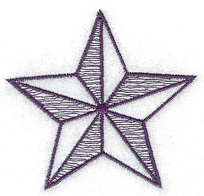 Embroidery Design: Star outline small 2.66w X 2.53h