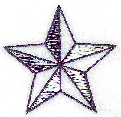 Embroidery Design: Star outline large 3.45w X 3.28h