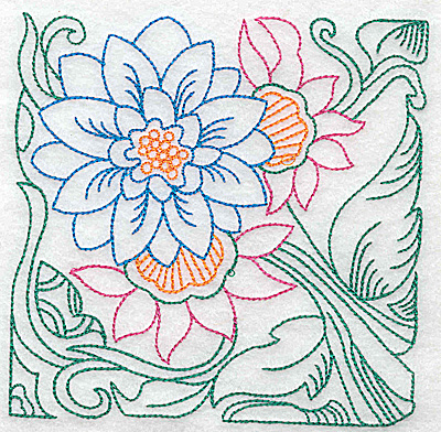 Embroidery Design: Tropical Flower B large 4.97w X 4.96h