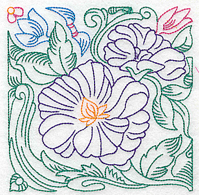 Embroidery Design: Tropical Flower C large 4.96w X 4.97h