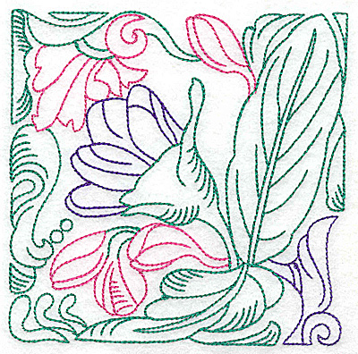 Embroidery Design: Tropical Flower D large 4.96w X 4.96h