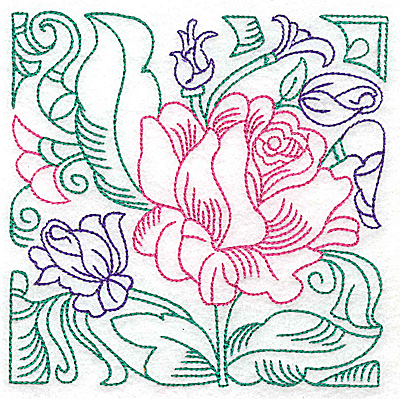 Embroidery Design: Tropical Flower F large 4.97w X 4.97h