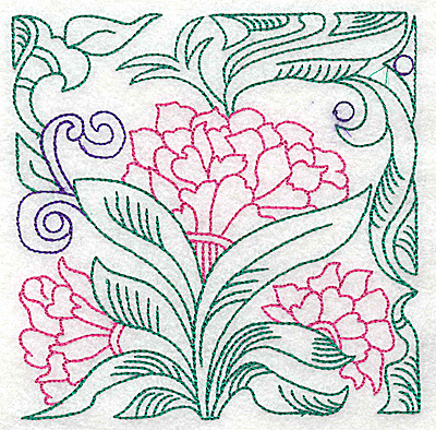 Embroidery Design: Tropical Flower G large 4.94w X 4.98h