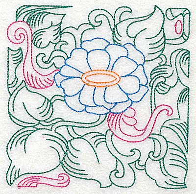 Embroidery Design: Tropical Flower H large 4.92w X 4.96h