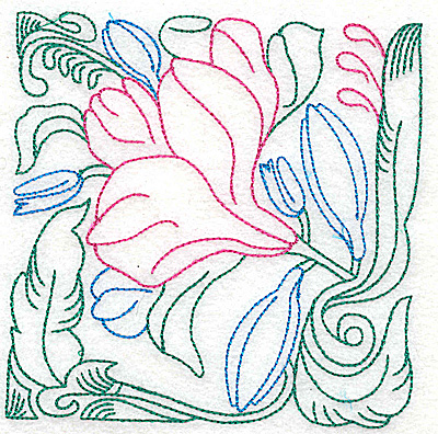 Embroidery Design: Tropical Flower I large 4.96w X 4.97h