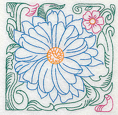Embroidery Design: Tropical Flower J large 4.98w X 4.96h