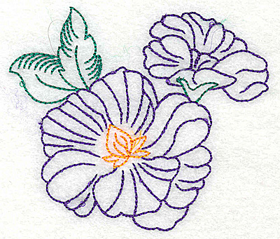 Embroidery Design: Tropical Flower C 3.86w X 3.31h