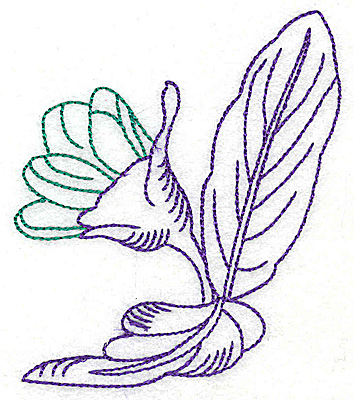 Embroidery Design: Tropical Flower D 3.19w X 3.83h