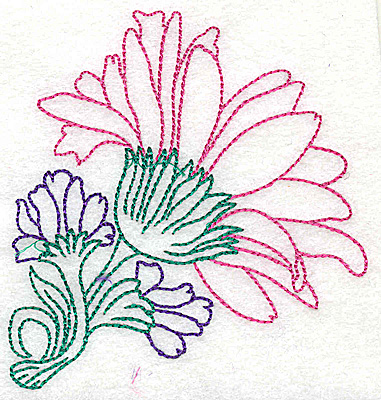 Embroidery Design: Tropical Flower E 3.60w X 3.83h