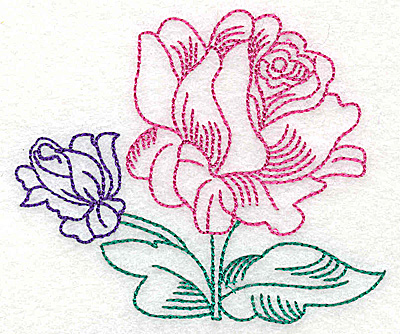 Embroidery Design: Tropical Flower F 3.75w X 3.13h