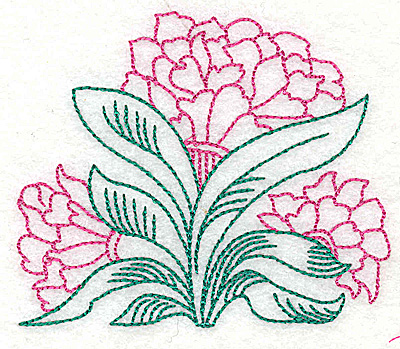 Embroidery Design: Tropical Flower G 3.76w X 3.18h