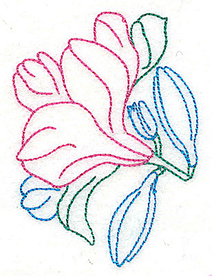 Embroidery Design: Tropical Flower I 2.71w X 3.71h