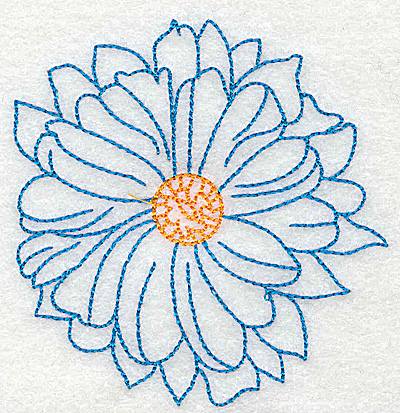Embroidery Design: Tropical Flower J 3.41w X 3.51h
