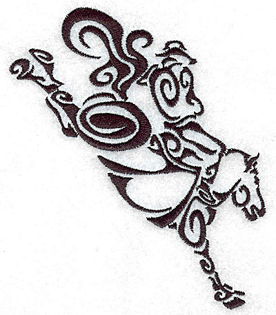 Embroidery Design: Rodeo horse and rider 3 medium 4.36w X 4.98h