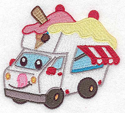 Embroidery Design: Ice Cream truck small 3.88w X 3.44h
