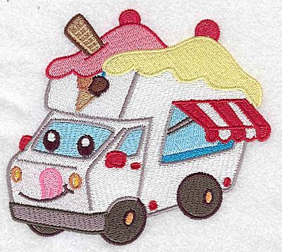 Embroidery Design: Ice Cream truck large 4.97w X 4.40h