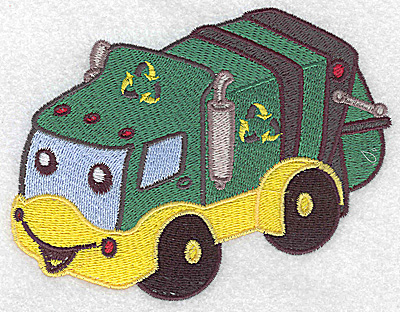 Embroidery Design: Recycling truck large 4.98w X 3.82h