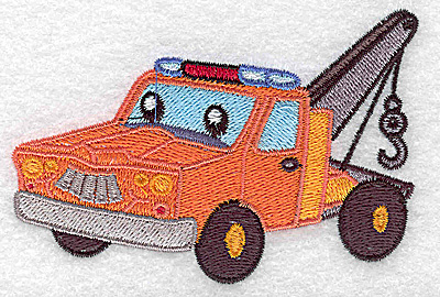 Embroidery Design: Tow truck small 3.89w X 2.73h