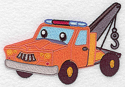 Embroidery Design: Tow truck large 4.98w X 3.49h