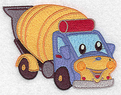Embroidery Design: Cement truck small 3.89w X 2.94h
