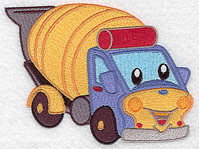 Embroidery Design: Cement truck large 4.98w X 3.77h