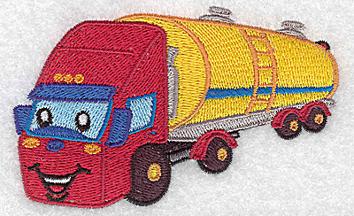 Embroidery Design: Fuel truck small 3.89w X 3.37h