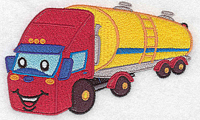 Embroidery Design: Fuel truck large 4.98w X 3.03h