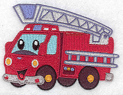 Embroidery Design: Fire truck small 3.87w X 2.87h
