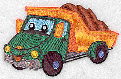 Embroidery Design: Dump truck large 4.97w X 3.19h