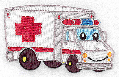 Embroidery Design: Ambulance vehicle small 3.91w X 2.39h