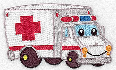 Embroidery Design: Ambulance vehicle large 4.98w X 3.04h
