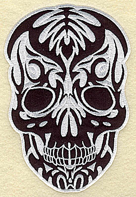 Embroidery Design: Tattoo Skull applique A small 3.63w X 5.44h