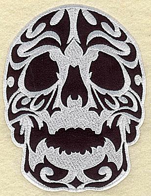 Embroidery Design: Tattoo Skull applique C medium 4.88w X 6.38h