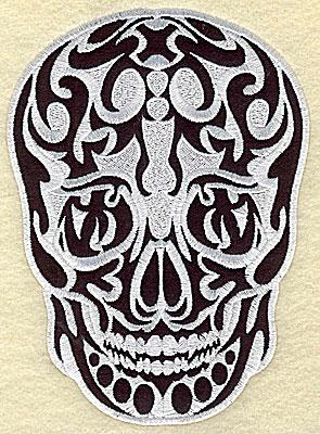 Embroidery Design: Tattoo Skull applique D small 3.94w X 5.44h