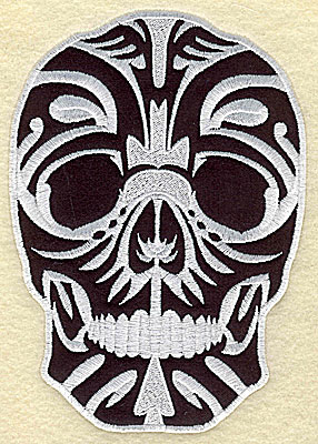 Embroidery Design: Tattoo Skull applique E large 4.81w X 6.81h