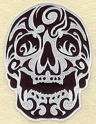 Embroidery Design: Tattoo Skull applique G large 6.06w X 8.13h