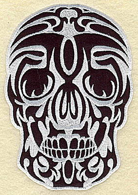 Embroidery Design: Tattoo Skull applique I small 3.75w X 5.44h