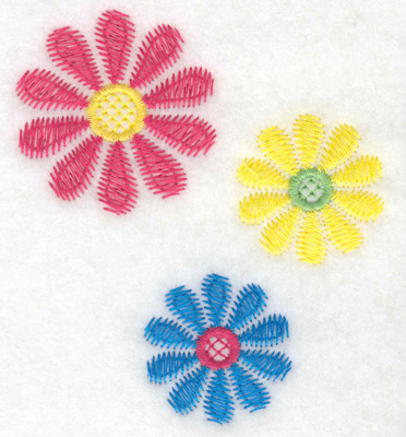 Embroidery Design: Floral trio large 3.39w X 3.86h